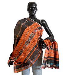 Shop Online Ikkat Design Silk Cotton Stole