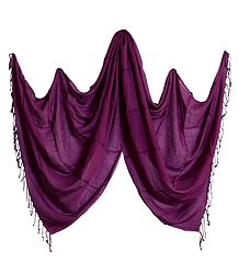 Fine Soft Cotton Purple Stole