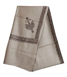 Woolen Gents Shawl with Embroidered Border