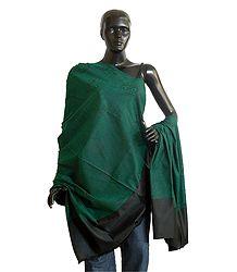 Buy Light Woolen Green Shawl