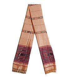 Ikkat Design Cotton Silk Stole