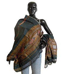 Ikkat Design Silk Cotton Stole