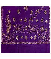 Mauve Kashmiri Woolen Shawl for Ladies