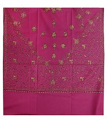 Pink Kashmiri Woolen Shawl for Ladies