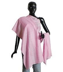 Light Pink Kullu Pashmina Shawl from Himchal Pradesh