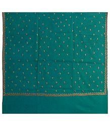 Cyan Kashmiri Woolen Shawl for Ladies