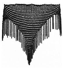 Black Velvet Woolen Stole