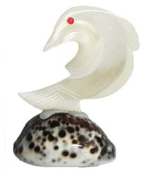 Mother of Pearl Fish on Cowrie