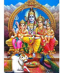 Lord Shiva with Family - Buy Poster