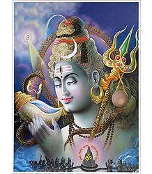 Neelkanth - Shiva Drinking Poison - Poster