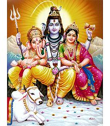 Shiva Parvati and Ganesha