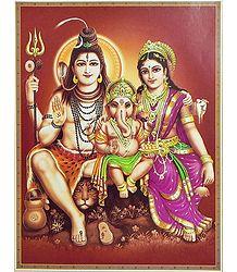 Shiva, Parvati and Ganesha