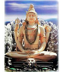 Lord Shiva - Glitter Poster