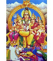 Shiva Family - Poster