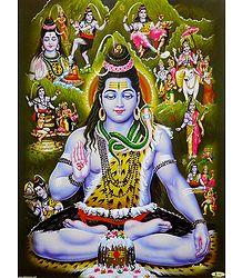 Story of Lord Shiva - Unframed Glitter Poster