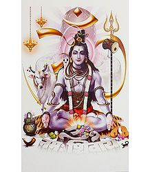 Buy Meditating Shiva Poster