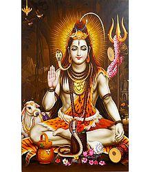 Shiva in Abhaya Mudra