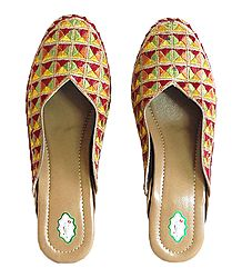 Shop Online Multicolor Phoolkari Design Ladies Jooti