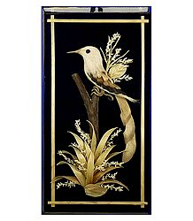 Bird on a Tree - Bamboo Strands Wall Hanging