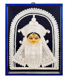Face of Durga with Shola Pith Decoration