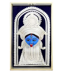 Face of Shyama Kali - Wall Hanging