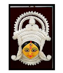 Clay Face of Durga with Decoration