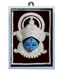 Clay Face of Kali with Shola Pith Decoration