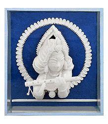 Shola Pith Krishna Sculpture
