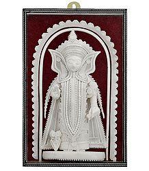 Shola Pith Lakshmi Statue