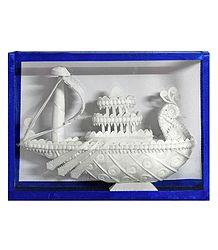 Mayurpankhi Boat - Sholapith Sculpture