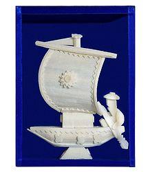 Sail Boat - Sholapith Sculpture