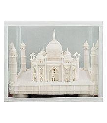 Sholapith Taj Mahal Sculpture