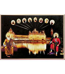 Golden Temple of Amritsar with the Ten Sikh Gurus