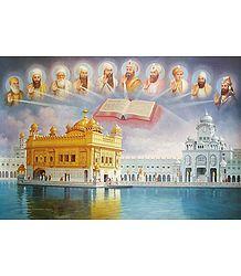 The Golden Temple, Guru Granth Sahib and the Ten Sikh Gurus - Poster