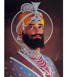 Guru Gobind Singh - Poster with Glitter