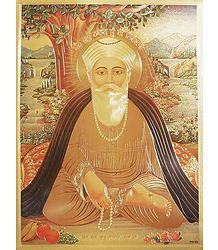 Guru Nanak - Metallic Paper Poster