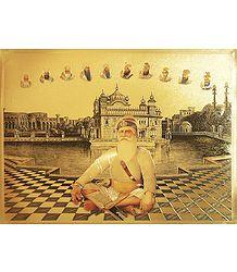 Baba Deep Singh Ji - Golden Metallic Poster