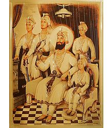 Guru Gobind Singh with His Four Sons