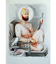 Guru Govind Singh Ji - Glitter Poster