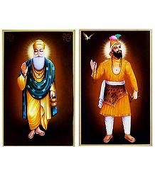 Guru Nanak,Guru Govind Singh - Set of 2 Posters