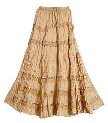 Magenta Cotton Long Skirt - Buy Online