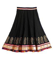 Shop Online Black Cotton Long Skirt