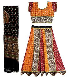 Cotton Lehenga and Adjustable Choli
