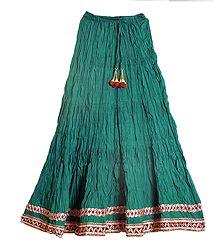 Buy Cyan Cotton Long Skirt