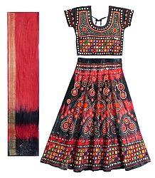 Embroidered Cotton Lehenga Choli