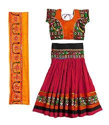 Shop Online Embroidered Cotton Lehenga Choli