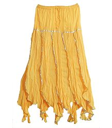 Light Yellow Long Gypsy Skirt