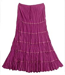 Dark Magenta Long Skirt