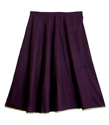 Dark Purple Cotton Skirt