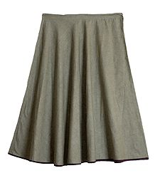 Plain Khaki Cotton Skirt